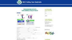 Web Designer Freelance, Siti Web Vasto, Web Design - Sito web San Gabriele Volley