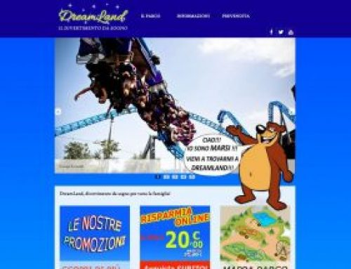 Sito web Parco Giochi Dreamland
